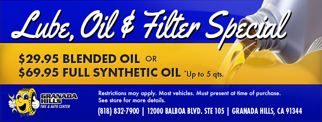 LUBE, OIL AND FILTER SPECIAL